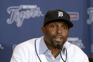 Detroit Tigers Hold Press Conference Introducing Torii Hunter